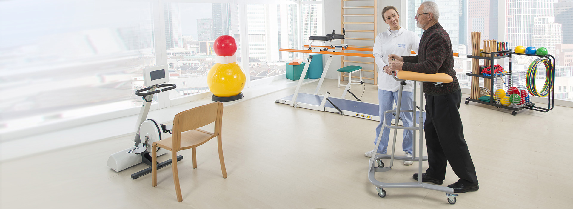 Chinesport equipment suitable for Covid-19 patients rehabilitation programs