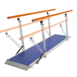 01325 - PARALLEL BARS PLUS 2M - Height-adjustable rehabilitation parallel bars